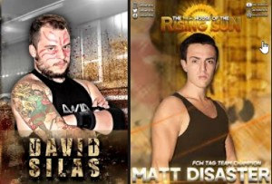 Nella foto, in alto: David Silas e Matt Disaster