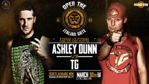 Nella foto, in alto: Ashley Dunn contro TG