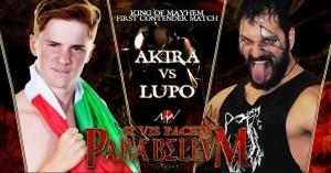 Nella foto, in alto: Akira contro Lupo