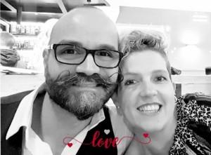 Nella foto: Denis con la moglie Paola