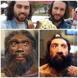 Nella foto, in alto: I Neanderthal non si sono del tutto estinti. Bongiovanni e Rafael ne sono la prova