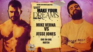 Nella foto, in alto: Mike Verna contro Jesse Jones
