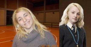 Nella foto, in alto: abbiamo con noi la mamma di Luna Lovegood saga di Harry Potter)