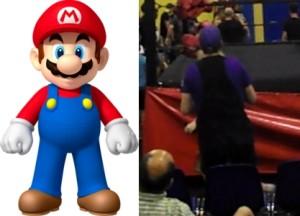 Nella foto, in alto: abiamo con noi Super Mario che si è cambiato d'abito