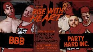 Nella foto, in alto: Party Hard Inc vs Brixia Bones Breakers