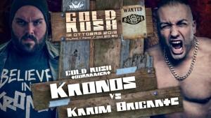 Nella foto, in atlo: Karim Brigante contro Kronos