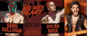 Nella foto, in alto: Serg Sullivan vs Dylan Rose vs Steve McKee