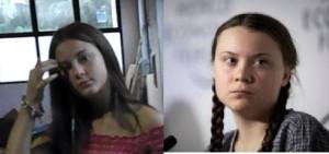 Nell foto, in alto: Abbiamo tra il pubblico la versione italiana di Greta Thunberg ma senza le trecce
