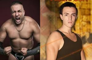 Nella foto, in alto: Karim Brigante contro Matt Disaster