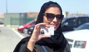 Reema Juffali mostra la sua patente
