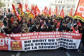 Un immagine della manifestazione in Francia