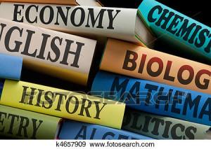 educazione-studio-libri-e-mela-archivio-illustrazioni__k4657909