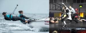 Nella foto, in alto: Riot in versione barca a vela