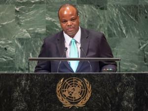 Mswati III all'ONU