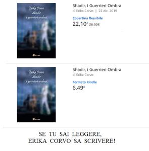 """Nella foto, in alto: """"Shadir, i Guerrieri Ombra"""" è disponibile su Amazon e tutti i principali portali on line"""