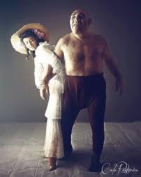Maurice Tillet con la bella moglie, Olga