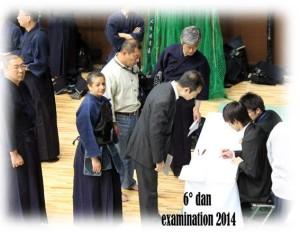Nella foto, in alto: Patrizia all'esame per il sesto dan di Kendo