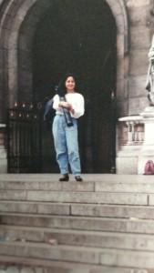 Nella foto, in alto: Patrizia da giovane