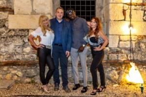 nella foto sopra da sx Maria Sansovito, Enrico Pigato, Souleymane Keita e Graciela Saez