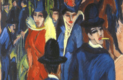 Berliner-Strasenszene-trad.-Scena-di-strada-Berlinese-di-Ernst-Luswig-Kirchner-1913-movimento-Die-Brucke-1