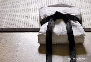judo gi with black belt